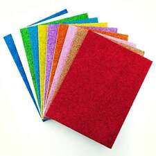 A5 Glitter Foam Sheets Self Adhesive For Crafts and Card Making - 10 Pack