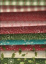 Moda Sandy Gervais Christmas Cotton Quilt Fabric Very Merry 10 Ft Qts NEW!