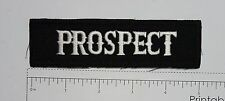Prospect - Club Harley Biker Funny Motorcycle Iron On Small Patch