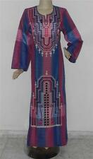 Women's Embroidered Long Kaftan Caftan Dress Abaya Galabeya Jalabiya Size M