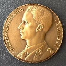 BRONZE ART- DECO MEDAL BY MULLER, BELGIAN KING BOUDEWIJN / N106