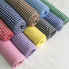 "1/4"" Gingham Check Polycotton Fabric Dress, Craft per Metre - 45"" - 114cm Wide"