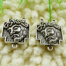 Free Ship 60 pieces tibetan silver rosary Jesus connector 27x21mm #308