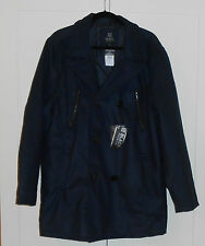 BLACK PREMIUM COMPANY MEN'S NAVY BLUE DOUBLE BREASTED PEACOAT - SIZE LARGE