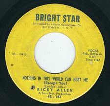 R&B Northern soul Ricky Allen BRIGHT STAR 147 Nothing in this world ♫