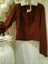 RUNDHOLZ DIP ~German Designer Art-To-Wear Lagenlook Shirt/Jacket~Lovely Design~S