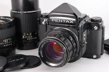 [Exc+++] Pentax 67 MLU Medium Format w/ 75mm 105mm 200mm Lens from Japan #5421