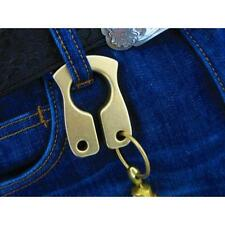 EDC Keychain Brass Key Ring Outdoor Tactical Self-defense Tools Handmade *