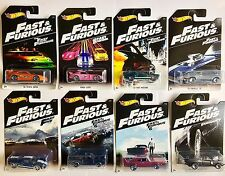 HOTWHEELS 2016 FAST & FURIOUS COMPLETE SET OF 8 TOYOTA HONDA MUSTANG FORD DODGE