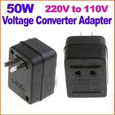 Useful 50W US AC Power Plug Converter Adapter AC 220V To 110V Transformer Travel