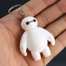 1x Cute Plastic Movie White Big Hero 6 Baymax Keychain KeyRing Cartoon Toy Gifts