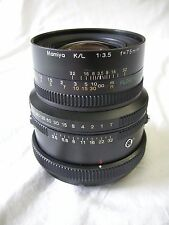 "Mamiya K/L 75MM F3.5 ""L"" Lens with Floating Element for all Mamiya RB67 Cams, EC"