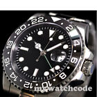 40mm parnis black dial GMT sapphire crystal automatic mens watch P344