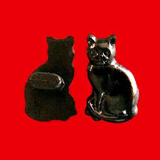 20 Cat Kid Child Novelty Craft Sewing Buttons Scrapbooking Black K572