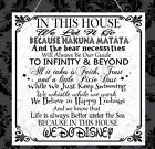 Personalised Disney Quotes Family In This House Plaque Mum Sister Nanny Gift