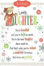 Lovely DAUGHTER Quality Christmas Card With Pop-Up Sentiment and Lovely words