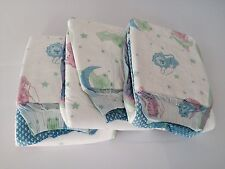 3 x Snuggies Waddler Overnight  Adult Baby Nappy. ABDL. Medium. Baby Print