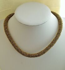 Modern Antique Gold Seed Beads Woven Necklace Gift idea