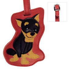 Mini Pinscher Dog Luggage Tag Briefcase Gym Backpack Travel ID