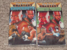 2 Roy Jones Jr. NEW/RARE VHS Movies! GREATEST Knockouts & Counter Punches NEW!!!