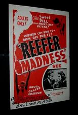 Original REEFER MADNESS Australian Special Daybill BALLINA FAIR NEW SOUTH WALES