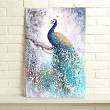 Unframed Canvas Prints Poster Decor Wall Art Picture -Retro Abstract Peacock