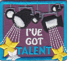 """I'VE GOT TALENT"" PATCH /Iron On Embroidered Applique /Movie, Games, Acting"