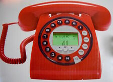 Retro vintage style digital home or works phone with caller ID - Red