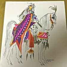 VINTAGE  ARTWORK, INK AND WATERCOLOR,  J. A. HAMILTON 1970