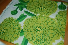 Marimekko Lime Green Primavera cotton fabric, one yard, Maija Isola, Finland