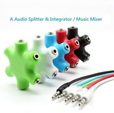 3.5mm Earphone Headphone Audio Splitter 1 Male to 2 3 4 5 Female Port Cables GOD