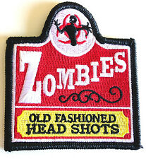 Tactical OLD FASHION ZOMBIE Head Shots Military Velcro Morale Patch