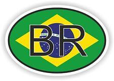 BRESIL BR Autocollant OVAL avec drapeau Voiture Caravane Pare-choc casque