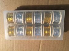 12x Spool of Flat Tinsel GOLD & SILVER, Fly Tying, Fly Fishing