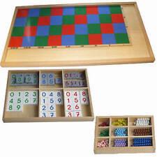 Montessori, Großes Multiplikationsbrett mit Perlen und Ziffern, MS54