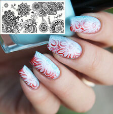 【BORN PRETTY】Nail Art stamping pochoir Template Image chic fleur plaque BP-L014