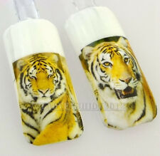 Fashion 3D Nature Cool Lifelike Tiger Water Transfer Nail Art Sticker Decals Tip
