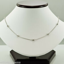 """NECKLACE 0.60 CT. DIAMONDS BY THE YARD 14K WHITE GOLD ADJUSTABLE 16"""",17"""", OR 18"""