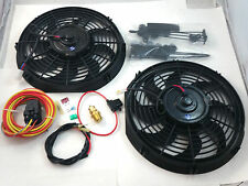 "Dual (2) 12"" Heavy Duty Eletric Fans CFM W/ HD Relay 180/160 SBC BBC Ford Mopar"