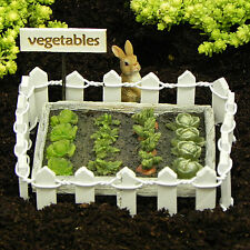 Miniature Vegetable Patch Collection ~ Fairy Garden ~ Fence ~ Sign ~ Bunny