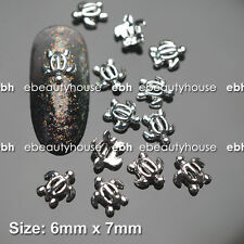 10 Pcs 3D Nail Art Ocean Decoration TURTLE Alloy Jewelry Rhinestone EJ-170