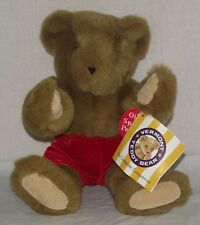 """Vermont Teddy Bear Plush Articulated Jointed Limbs 16"""" Red Velvet Shorts w/ Tags"""