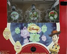 Christmas Disney Toy Story String of 8 Blinking Lights Motion Activated NIB