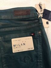 BNWT 100% auth Tommy Hilfiger Green Milan Slim Fit Jeans. 28 RRP £150