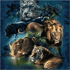 Big Cats 14 Count Cross Stitch Kit