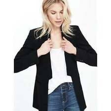 BANANA REPUBLIC $168  BLACK SEAMED LAPEL LONG BLAZER JACKET   8