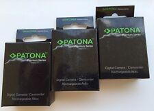 x3 batteria lpe6 premium 2000 mah lp-e6 patona omaggio caricabatteria canon eos