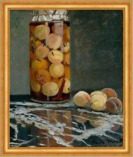 Jar of Peaches Claude Monet Pfirsiche Eingelegt Weckglas Früchte B A3 01291