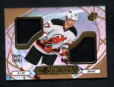 ET) 2016-17 SPx Ice Shredders Materials #ISPZ Pavel Zacha C Dual Jersey Relic