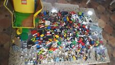 HUGE 6lb LEGO LOT~Zip It Storage/Map~32 Mini Figures~Superhero